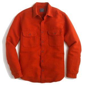 Flannel Chamois Shirt in Red Orange